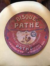 Ancien Disque Pathé fibro - ciment pour phonographe à nettoyer