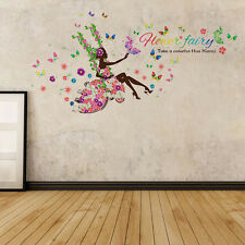 Removable Flower Girl Wall Art Sticker Vinyl Decal DIY Room Home Mural Decor