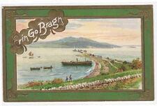Erin Go Bragh Fahan Pier Lough Swilly Irish St Patrick's Day Winsch postcard