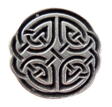 Celtic Quartered Knot Pewter Pin Badge   Hand Made In Cornwall