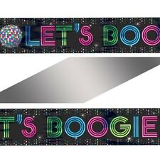 25ft Giant 1970 1970's 70's Disco Fever 'Lets Boggie' Party Banner Decoration
