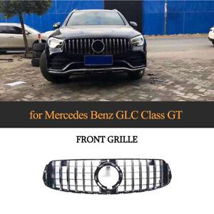 Silber Kühlergrill Frontgrill W/ Camera Hole für Mercedes Benz GLC300 GLC 2020