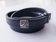 David Yurman Mens Armory Triple Wrap Bracelet  Medium $595 NWT