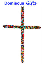 "12 1/2"" New Large Beaded Wall Cross Religious Christian Home Decor Free Shipping"