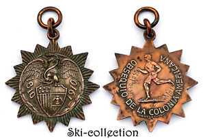 MEXIQUE, Médaille Obsequio De La Colonia Americana. 3°R Premio, 1/2 Milla. 1910