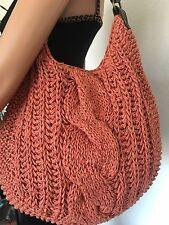Old Navy Bag Woven Braid  Paper Coral Designer Fashion