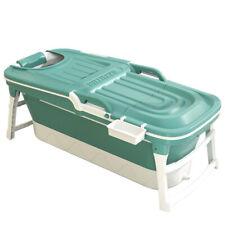 More details for folding adult kid bathtubs with cover lid portable sauna soaking barrel green uk