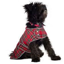 Ancol Highland Red Tartan Warm Dog Coat With Reflective Edging 50cm