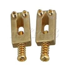 More details for 6pcs electric guitar bridge saddle with wrench brass gold