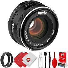 Opteka 50mm f2.0 Manual Lens + Kit for Nikon 1 J5 J4 J3 J2 J1 S2 S1 V3 V2 V1 AW1