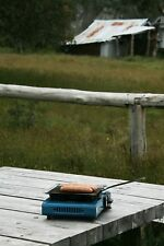 SQUARE 250 x 250mm STEEL HOTPLATE PAN FOLDING HANDLE Hillbilly Camping Gear