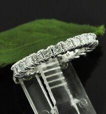 ANNIVERSARY 2.00 ct ETERNITY DIAMOND RING PRINCESS CUT BAND 14k made in USA