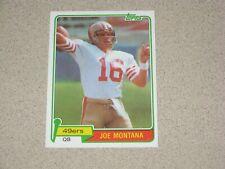 1981 TOPPS JOE MONTANA ROOKIE CARD #216 MINT