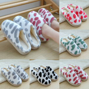 Unisex House Slippers Cotton Shoes Non-Slip Soft Indoor Warm Bedroom Winter