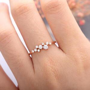 Round Cut White Diamonds 14K Rose Gold Over Women Engagement Wedding Gift Ring