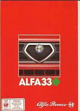 ALFA ROMEO 33 svincolo a quadrifoglio SALES BROCHURE 1985