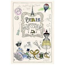 French Kitchen Dish/Tea Towel Grands Magasins Paris 100% Cotton  Made In France