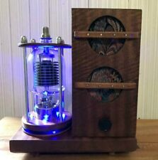 Custom Handmade Bluetooth Amplifier w/Stereo Speakers & LED Vacuum Tube