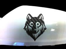 Wolf Loup-garou voiture autocollants Aile Miroir Style d'autocollants (lot de 2), carbone noir