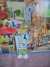 Playmobil  6634 City Life Zoo Animal Show Time Clock Sign Board Map Hands Move