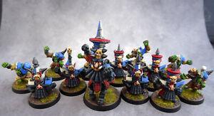 Blood Bowl Chaos Dwarf Team - Metal, Painted - UK Only