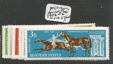Hungary Horses Sc 1406-12 Mnh (9cwe)