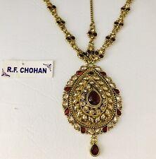 Antique gold maroon headpiece matha patti tikka hijab bridal hair chain prom