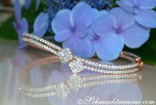 Diamanten-Armbänder im Armreif-Stil aus Rotgold für Damen