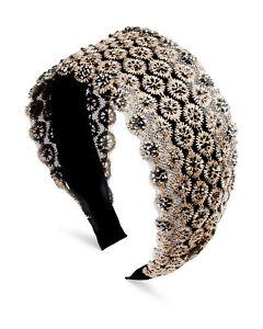 Oliver Bonas Women Ivy Embellished Lace Headband