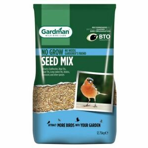 Gardman No Grow Seed Mix Wild Bird Food 12.75kg FREE NEXT DAY DELIVERY