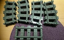 Lego city train track 16 curved 4 straight new for set 7939 60052 60051  etc
