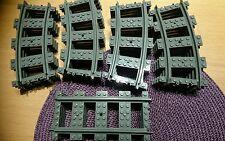 Lego City Tren Pista 16 curva recta nuevo conjunto de 4 para 7939 60052 60051 etc.