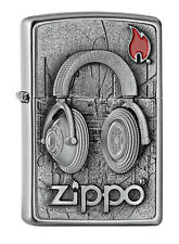 Zippo Lighter ● Headphones emblema ● 2005718 Spring 2018 ● nuevo embalaje original New ● s10