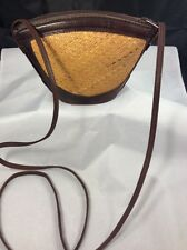 Vintage Leather/Straw Small Crossbody Indonesia