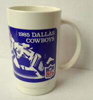 Dallas Cowboys Burger King Plastic Dr Mug Pepper Football Graphics 1985