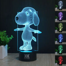 Peanuts Snoopy 3D LED Night light 7 color Touch Switch  Table Desk Lamp Gift