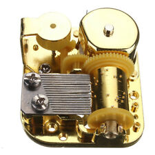 DIY Mechanical Musical Box Golden Movement+Screws +Castle In The Sky Key Gift