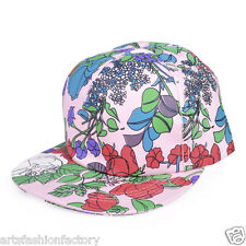 Kawaii Vine Print Adjustable Snapback Cap for Men Kids Girl Baseball Cap Hat