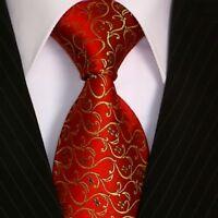 Krawatte Krawatten Schlips Binder de Luxe Tie cravate 398 rot ranken