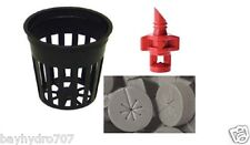 """Bay Hydro COMBO - 35pc 2"""" Net Pots & Spoke Inserts + 6pc Spray Jets - DIY Cloner"""