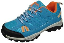 New Boys Hiking Sneakers Orange/Black/Blue Size 1