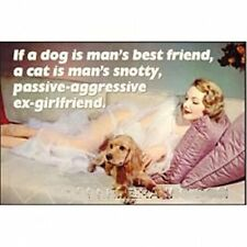 """Calamita per frigo divertente """"se un cane fosse il migliore amico dell'uomo"""""""