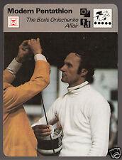 THE BORIS ONISCHENKO AFFAIR Modern Pentathlon Fencing 1977 SPORTSCASTER CARD
