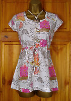NEW WHITE STUFF IVORY KHAKI PINK YELLOW FLORAL SUMMER BLOUSE TUNIC TOP UK 8 10