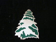 STERLING  SILVER CHRISTMAS TREE HAND ENAMELING