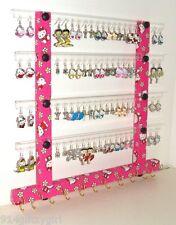 "HELLO KITTY FABRIC  Earring Organizer & Jewelry Rack TEEN GLITZY GIRL ""SALE"""
