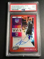 MARVIN BAGLEY 2018 CONTENDERS OPTIC #110 VARIATION RED PRIZM AUTO RC /99 PSA 9