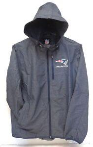 New England Patriots Men's L G-III Playmaker Lightweight Hooded Full Zip Jacket