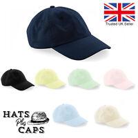 Baseball Cap Low Profile Crown 100%  Chino Cotton Retro Dad Mens Womans Sun Hat