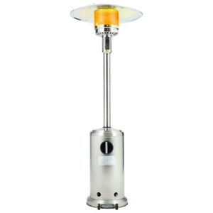13KW Gas Patio Heater w/Wheels Outdoor Garden Heater Burner Free Standing 225CM